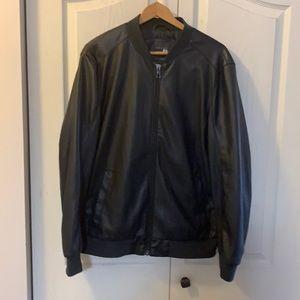Zara man black motorcycle jacket like new